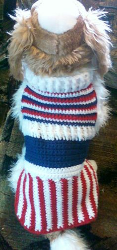 Hand-Crocheted Uncle Sam Coat by Toy Togs!