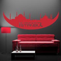 Istanbul - 2 YAKA 2 KITA - Individuelle Wandtattoos für Ihre Wanddekoration - 53 Fraben - verschiedene Größen - Top Preise uvm...