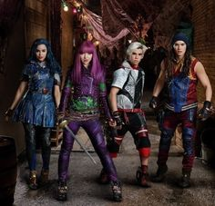 Descendants 2 Disney channel starring Dove Cameron as Mal Sofia Carson as Evie Booboo Stewart as Jay and Cameron Boyce as Carlos