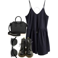 *** by sassypayne on Polyvore featuring polyvore, fashion, style, Dr. Martens, Givenchy, Topshop and Retrò