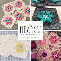 """It's wonderful to see the engagement in our CAL blanket """"The Meadow""""! Our feed is full of your colourful granny squares, but we would love to see more! Share your photos using #DROPSCAL or #TheMeadow  Sign up for the CAL's own newsletter and be the first one to get the next clue by clicking the link in our bio  Thanks to @beritjo, @haeklemor, @nikole.frau and @ehardegard for your lovely pics ❤  #DROPSfan #crochet #blanket #crochetersofinstagram"""