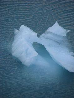 ice sculpture in Glacier Bay