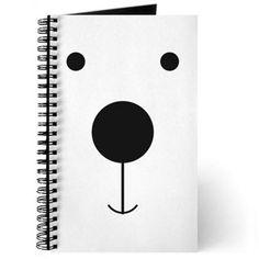 Minimalist Polar Bear Face Journal