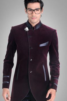 Men designer wedding groom indowestern velvet dinner casual coat jacket blazer in clothing, shoes & accessories, men's clothing, suits Mens Fashion Suits, Mens Suits, Men's Fashion, Fashion Styles, Party Suits, Party Wear, Prom Party, Tuxedo Dress, Tuxedo Jacket