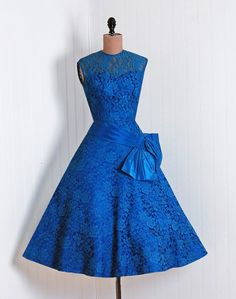 1950's royal blue dress