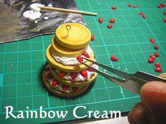 Rainbow Cream 粘土でつくるfancyスイーツ