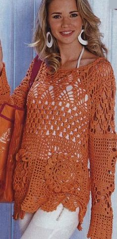 Crochet Pullover - with charts at source