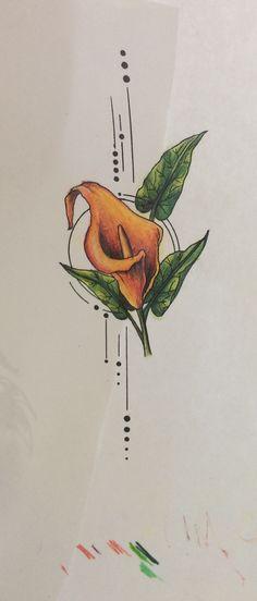 Lilly Tattoo Design, Tattoo Designs, Line Drawing, Drawing Ideas, Tattoo Drawings, Art Drawings, Lillies Tattoo, Doodle Ideas, Calla Lillies