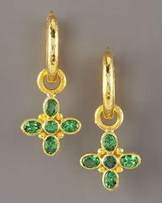 Elizabeth Locke Tsavorite Earring Charms, love these