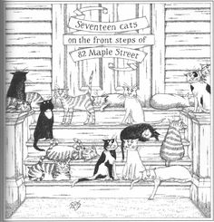 """© Edward Gorey's  """"The Wuggly Ump [1963], has been re-issued in a color-me version. tons of fun, and each plate is printed on one side only, so you can remove and frame the finished plate."""