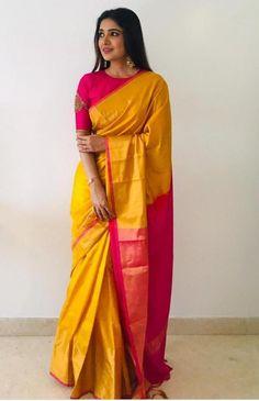 Pattu Saree Blouse Designs, Fancy Blouse Designs, Bridal Blouse Designs, Blouse Neck Designs, Latest Saree Blouse Designs, Pink Saree Blouse, Sari Dress, Saris, Anarkali