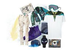 """SPLASH"" by aneukrfl on Polyvore featuring Marcelo Burlon, Alexander McQueen, Christian Louboutin, Faith Connexion, Fendi, Kenzo, Billabong, Oakley, men's fashion and menswear"