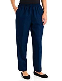 Alfred Dunner Classics Solid Color Pants 14 Short Navy: This Alfred Dunner Basic Polyester Pull-On Pant features a basic comfortable style! Grandma Clothes, Pull On Pants, Women's Pants, Pantsuits For Women, Elastic Waist Pants, Alfred Dunner, Pants Pattern, Comfortable Fashion, Black Pants