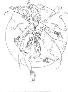 Amy Brown Coloring page Fairy Myth Mythical Mystical ...
