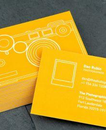 Camera Negativ cards by Dan Rubin for Moo.