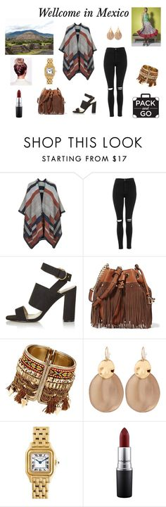 """Wellcome in Mexico"" by kmosenova-karolinka14 on Polyvore featuring Topshop, Diane Von Furstenberg, Alexis Bittar, Cartier and MAC Cosmetics"