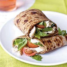 Caprese Wraps with Chicken | MyRecipes.com