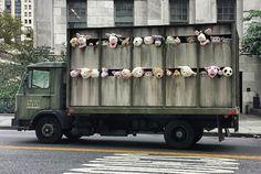 """Banksy's latest … a """"meat truck"""" (via banksy.co.uk)"""