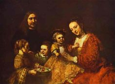 """Portrait of a Family"", Oil by Rembrandt Van Rijn (1606-1669, Netherlands)"