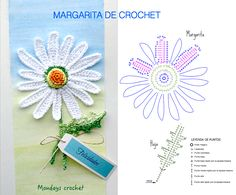 Crochet Collar Pattern, Crochet Flower Patterns, Flower Applique, Crochet Motif, Knitting Patterns, Cute Crochet, Irish Crochet, Margarita Crochet, Yarn Projects