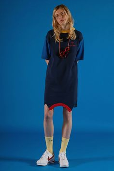 Navy knit onepiece  ADER IMAGE #ader#fashion#lookbook#editorial#image#photo#photography#styling#color#knitwear#belt