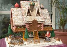 Over-the-Top Gingerbread Houses: Baba Yaga Gingerbread House