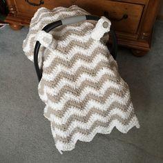 Ravelry: Chunky Chevron Car Seat Canopy Cover by Crochet by Jennifer