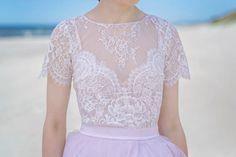 Serenity  lace bridal blouse / bridal blouse / bridal lace. WardrobeByDulcinea