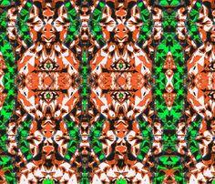 Fernie custom fabric by ak-wildenature for sale on Spoonflower Throw Cushions, Blue Fabric, Custom Fabric, Spoonflower, Fabric Design, Printing On Fabric, Gypsy, Gift Wrapping, Orange