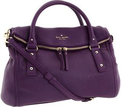 Kate Spade New York Cobble Hill Small Leslie Purple Handbags, Purple Purse, Purses And Handbags, Dior Purses, Coach Handbags, Luxury Handbags, Kate Spade Geldbörse, Kate Spade Purse, Sacs Design