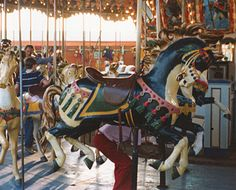 "Illions Jumper from the ""Illions Supreme"" carousel being restored by the Brass Ring Carousel Complany http://brassringcarousel.com/wp-content/uploads/2014/05/Illions-supreme-pomona-1970s21.jpg"