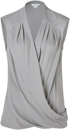 Helmut Lang Grey In Glacier Tank Top/Cami Size Petite 4 (S) off retail