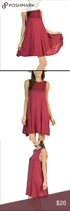 🔥🔥🔥Sleeveless Shift Dress 🔥🔥🔥 The perfect summer dress!   Slight sidetail cut takes the average shift dress up a trendy level!  97% rayon  3% spandex   Made in the USA Bellino Clothing Dresses