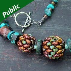small beaded bead -