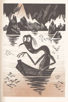 The Russian version of J.R.R. Tolkien's classic features stark yet charming illustrations.
