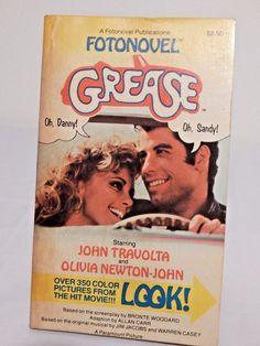 Vintage 1978 1st Edition GREASE Fotonovel John Travolta & Olivia Newton John