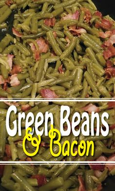 Green Bean and Bacon Casserole Party Size Side Dish Electric Skillet Recipe Easy Skillet Meals, Skillet Cooking, Paleo Recipes, Easy Recipes, Cooking Recipes, Bacon Casserole Recipes, Main Dishes, Side Dishes, Electric Skillet Recipes
