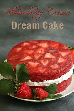 Strawberry Cream Dream Cake