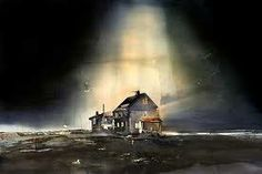 Lars Lerin akvarell