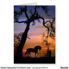 Equine Sympathy Card Horse and Oak Tree