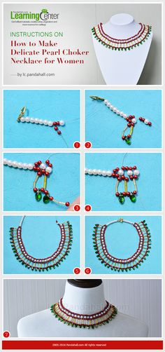 Instructions on How to Make Delicate Pearl Choker Necklace for Women from LC.Pandahall.com