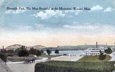 Riverside Park, Winona, Minnesota, 1916 www.visitwinona.com
