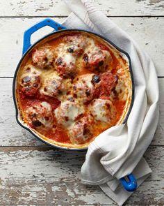 Slow-Cooker Eggplant Meatball Casserole Recipe - Vegetarian Meatballs   Martha Stewart