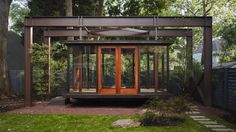 Take a Break in a Floating Tea House.  outdoor Lantern style room.  Perfect meditation space. David Jameson architects