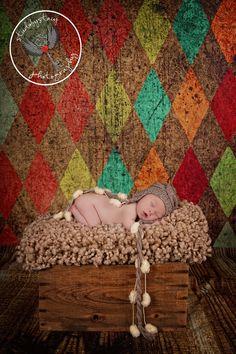 Newborn Baby Boy Hat, Baby Boy Photo Prop Hat, Knit Baby Hat Earflap, Infant Boy Hat Baby. $20.00, via Etsy.