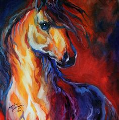 STALLION RED DAWN Art Prints by Marcia Baldwin - Shop Canvas and Framed Wall Art Prints at Imagekind.com