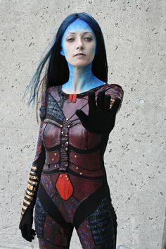 Illyria (from the Angel TV series), cosplay by Astr0Babe