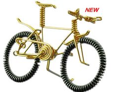 BMX Bike Wire Bicycle Miniature Bicycle Cake Topper by OzWireArt