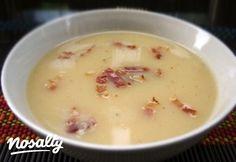 Burgonyakrémleves   Nosalty Cheeseburger Chowder, Soup Recipes, Bacon, Soups, Food, Eten, Soup, Meals, Chowder