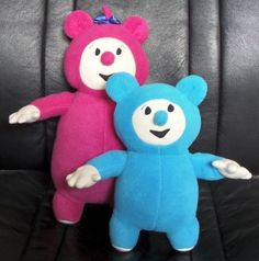 Billy and BamBam plush toys that I first made for my niece.